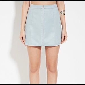 Dusty blue mini skirt